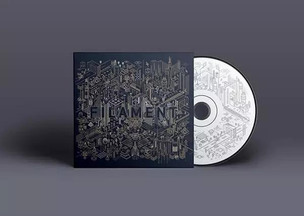 光碟封面设计作品欣赏,有创意的光盘封面设计作品合集 一张光碟cd封面图片