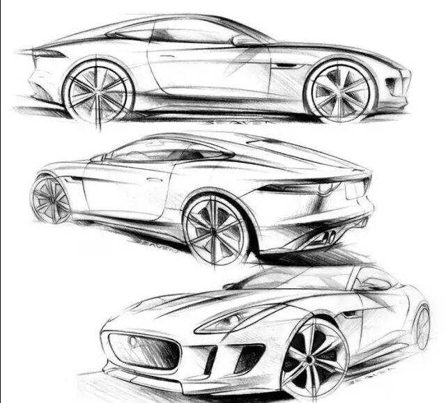 汽车手绘技巧,教你画帅气的汽车手绘图