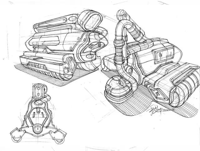 工业设计手绘线稿图的意义,构思性草图实例解析